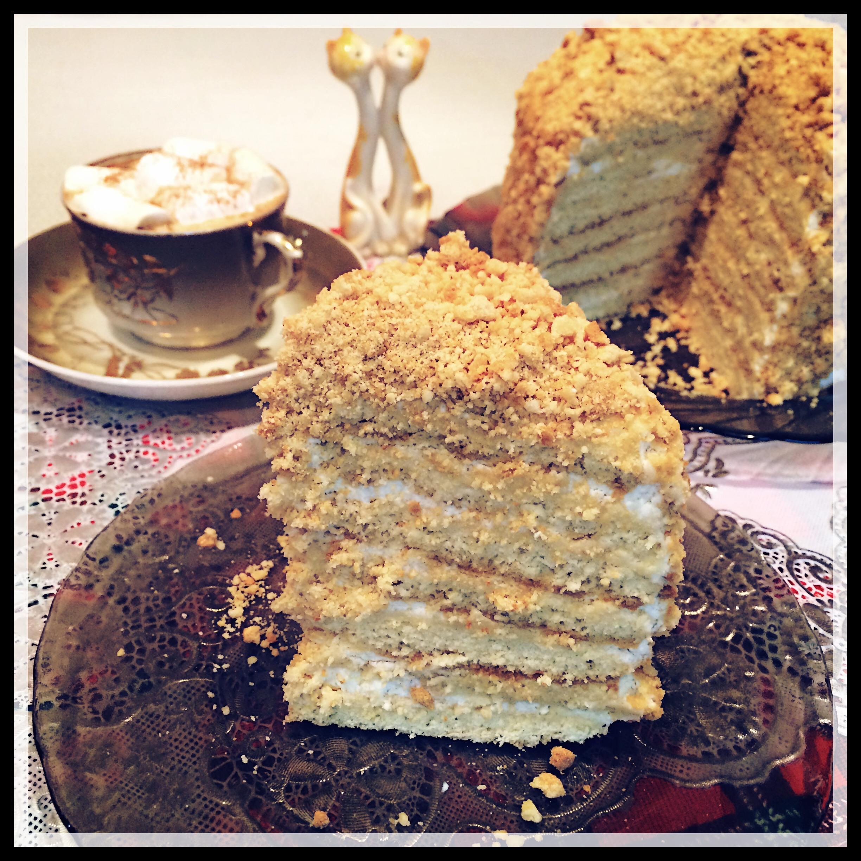 Рецепты тортов со сметанными коржами