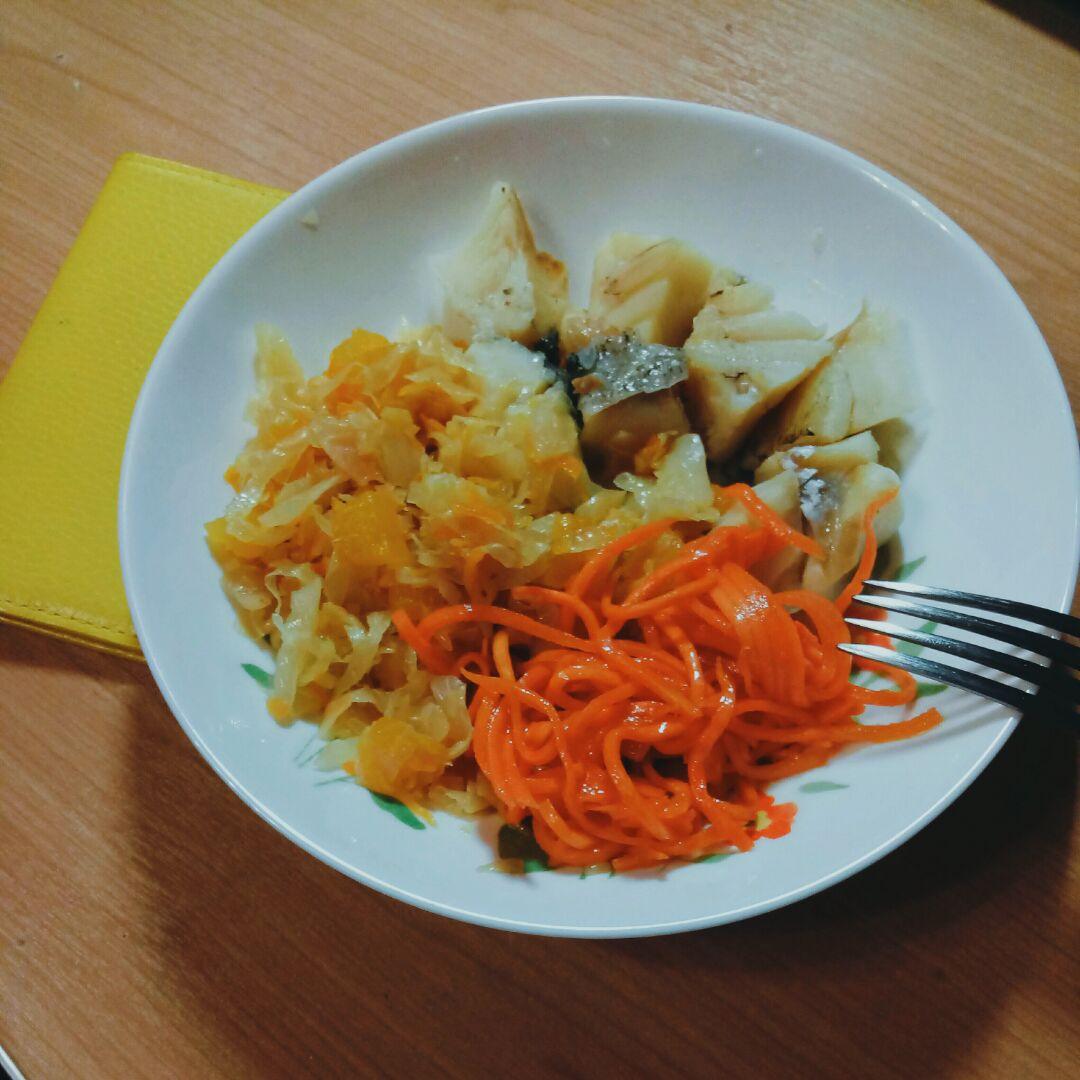 тушёная капуста с кабачками калорийность