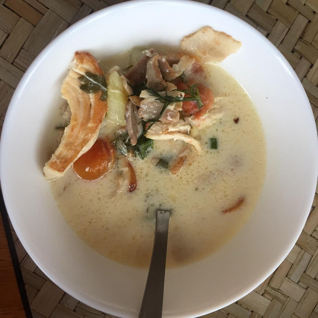 Суп с шампиньонами и сыром рецепт пошагово